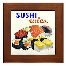 Sushi Platter Framed Tile