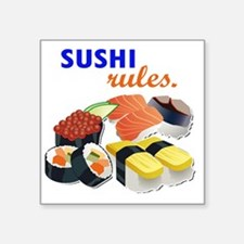 "Sushi Platter Square Sticker 3"" x 3"""