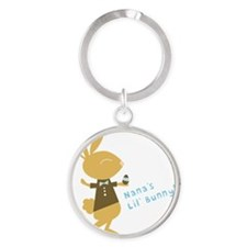 Nana's Little Easter Bunny Round Keychain