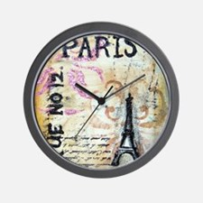 cafe9x12eiffel Wall Clock