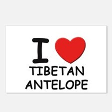 I love tibetan antelope Postcards (Package of 8)
