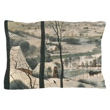 Hunters in the Snow by Pieter Bruegel  Pillow Case