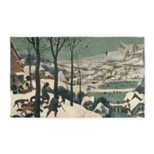 Hunters in the Snow by Pieter Brueg 3'x5' Area Rug