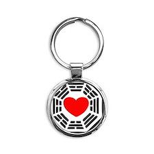 i-heart-ben Round Keychain