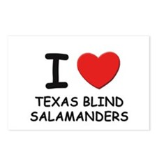 I love texas blind salamanders Postcards (Package