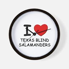 I love texas blind salamanders Wall Clock
