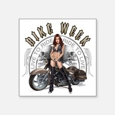 "CP1010-Bike Week Chaps Babe Square Sticker 3"" x 3"""