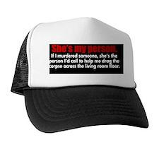 shesmypersonbutton Trucker Hat