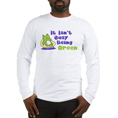 St. Patrick's Being Green (Frog) Long Sleeve T-Shi