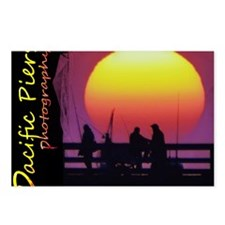 Hueneme Pier Sunset - lar Postcards (Package of 8)