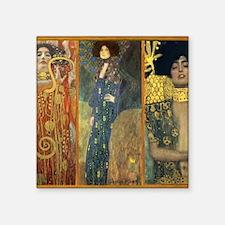 "Gustav Klimt - Strong Women Square Sticker 3"" x 3"""