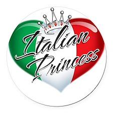 CP1013-Italian Princess Round Car Magnet