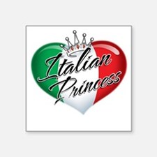 "CP1013-Italian Princess Square Sticker 3"" x 3"""
