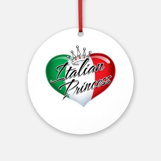 CP1013-Italian Princess Round Ornament