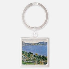 LEstaque, View of the Bay of Marse Square Keychain