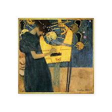 "Gustav Klimt - Music Square Sticker 3"" x 3"""