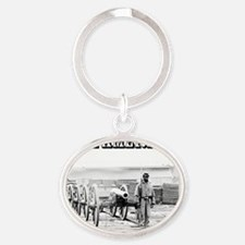 AfricanAmerican Oval Keychain