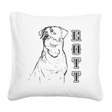 rott Square Canvas Pillow