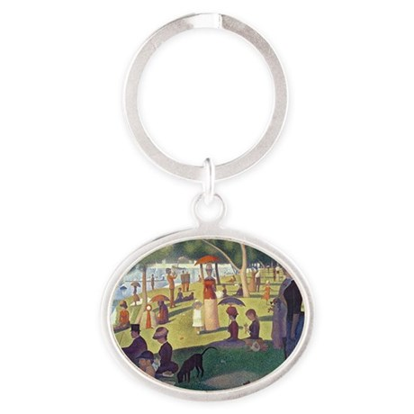 Sunday Afternoon on the Island of La Oval Keychain