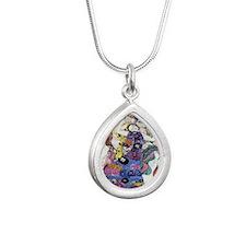 Gustav Klimt - The Virgi Silver Teardrop Necklace