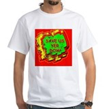 Save a cigarette Mens White T-shirts
