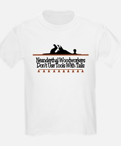 Neanderthal Woodworkers Kids T-Shirt
