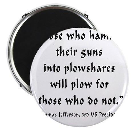 t_j_guns_to_plowshares Magnet