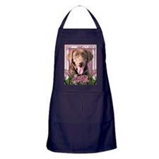 Mothers_Day_Pink_Tulips_Labrador_Choc Apron (dark)