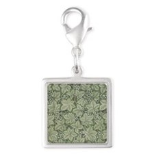 William Morris Bramble Silver Square Charm