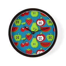 Retro Fruits Wall Clock