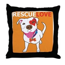 Rescue Love Throw Pillow