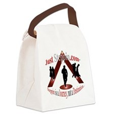 just_steppin_logo2 Canvas Lunch Bag
