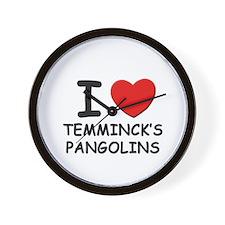 I love temminck's pangolins Wall Clock