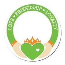 Love, Friendship, Loyalty Ring Round Car Magnet