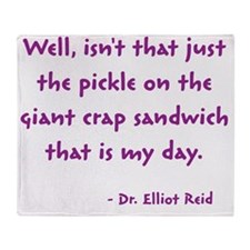 crap sandwich Throw Blanket