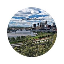 Saint Paul, Minnesota landscape pho Round Ornament