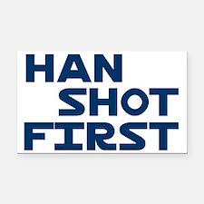 Han-Shot-First-(white-shirt) Rectangle Car Magnet