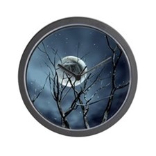 view in the night Wall Clock