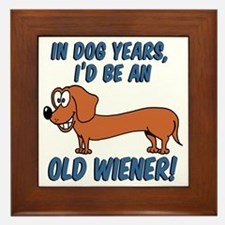 Old Wiener Framed Tile