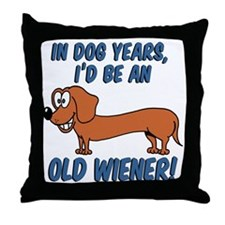 Old Wiener Throw Pillow
