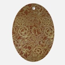 William Morris Poppy Oval Ornament