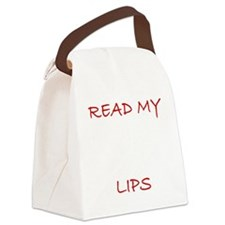 LipRead2 Canvas Lunch Bag