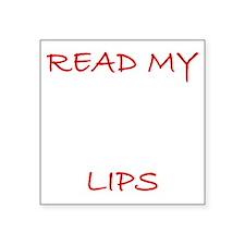"""LipRead2 Square Sticker 3"""" x 3"""""""