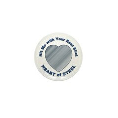 Anti-Valentine Heart of Steel Mini Button (10 pack