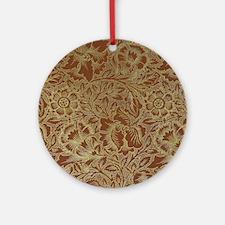 William Morris Poppy design Round Ornament