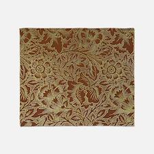 William Morris Poppy design Throw Blanket