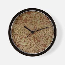 William Morris Poppy design Wall Clock