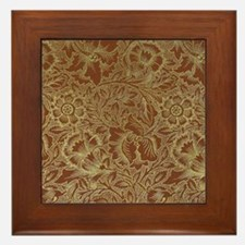 William Morris Poppy design Framed Tile