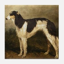 Borzoi Oil Painting 2 Tile Coaster
