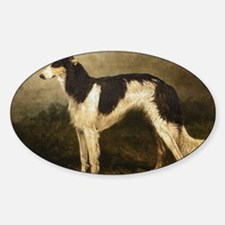 Borzoi Oil Painting 2 Sticker (Oval)